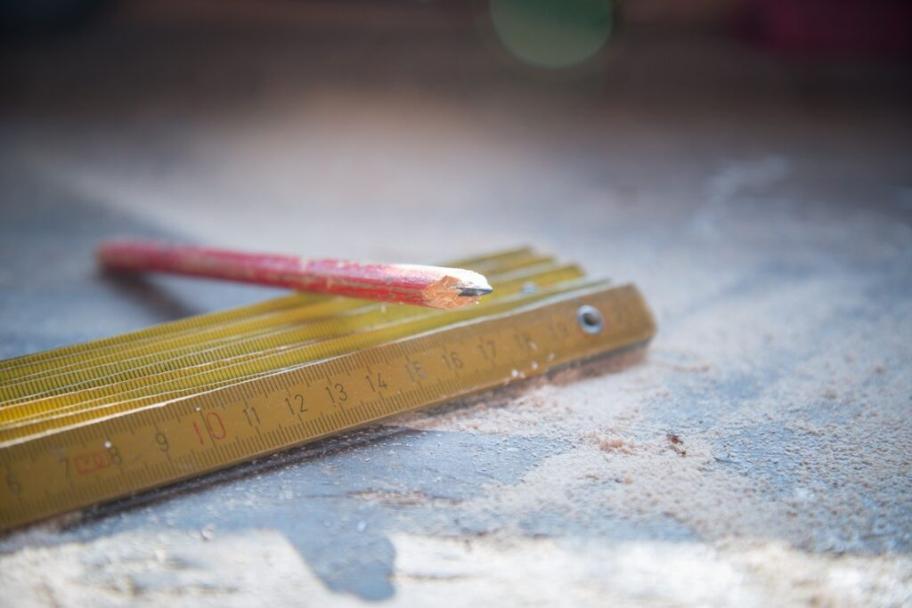 carpenter, tools, rule